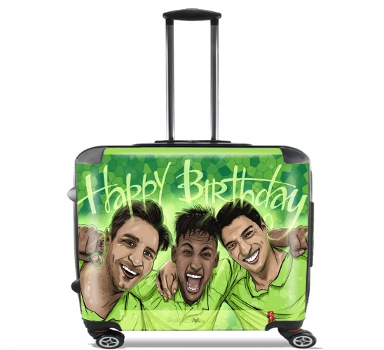 "Happy Birthday MSN  for Wheeled bag cabin luggage suitcase trolley 17"" laptop"