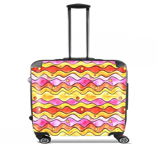 "Happy Ocean for Wheeled bag cabin luggage suitcase trolley 17"" laptop"
