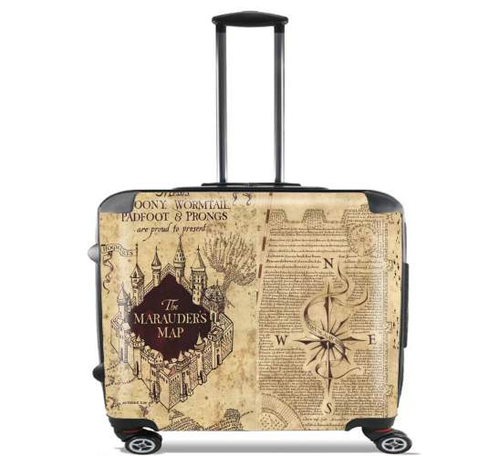 "Harry Potter Marauder Map for Wheeled bag cabin luggage suitcase trolley 17"" laptop"