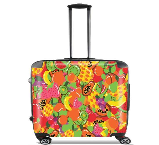 "Healthy Food: Fruits and Vegetables V1 for Wheeled bag cabin luggage suitcase trolley 17"" laptop"