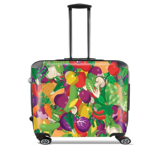 "Healthy Food: Fruits and Vegetables V3 for Wheeled bag cabin luggage suitcase trolley 17"" laptop"