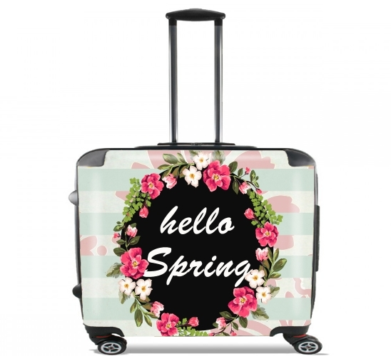 "HELLO SPRING for Wheeled bag cabin luggage suitcase trolley 17"" laptop"