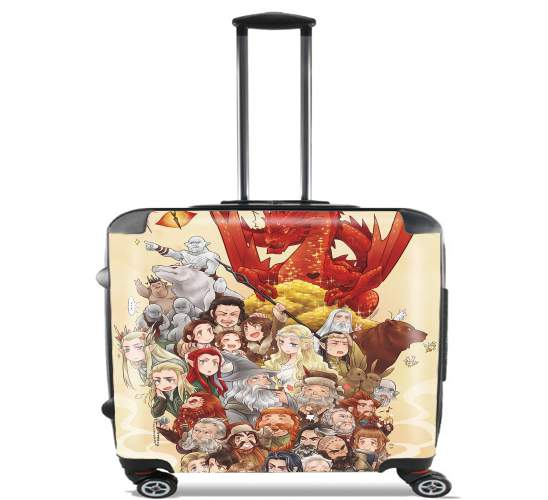 "Hobbit The journey for Wheeled bag cabin luggage suitcase trolley 17"" laptop"