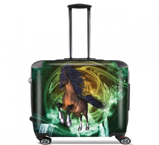 "Horse with blue mane for Wheeled bag cabin luggage suitcase trolley 17"" laptop"