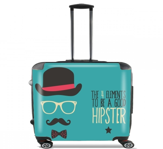 "How to be a good Hipster ? for Wheeled bag cabin luggage suitcase trolley 17"" laptop"
