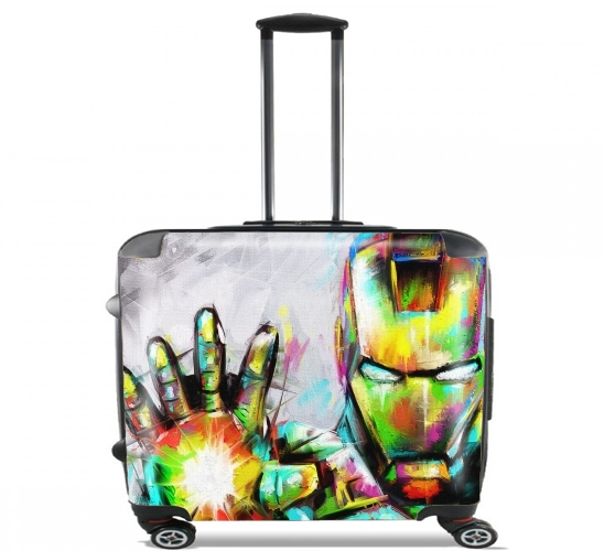 "I am The Iron Man for Wheeled bag cabin luggage suitcase trolley 17"" laptop"