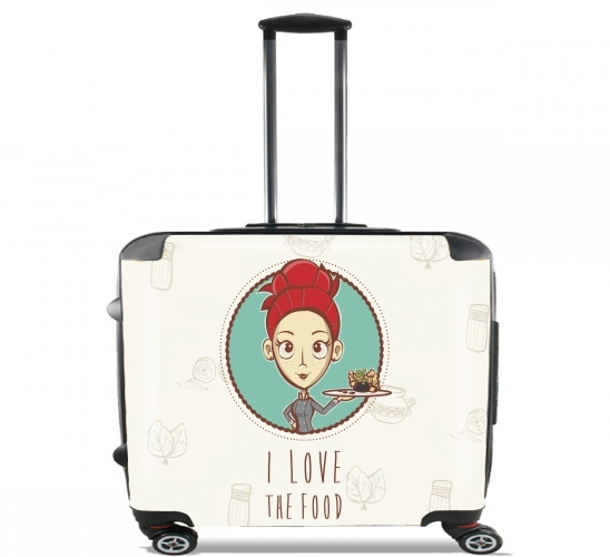 "I love the food for Wheeled bag cabin luggage suitcase trolley 17"" laptop"