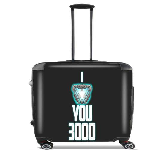 "I Love You 3000 Iron Man Tribute for Wheeled bag cabin luggage suitcase trolley 17"" laptop"