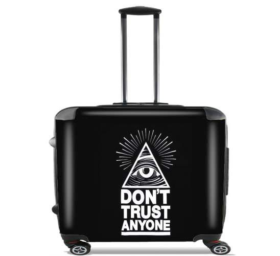 "Illuminati Dont trust anyone for Wheeled bag cabin luggage suitcase trolley 17"" laptop"