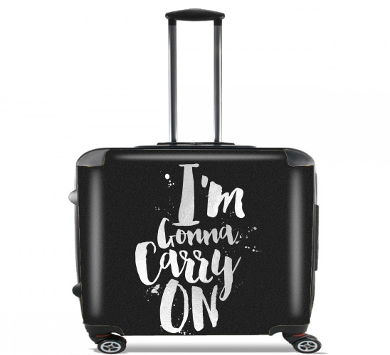 "I'm gonna carry on for Wheeled bag cabin luggage suitcase trolley 17"" laptop"
