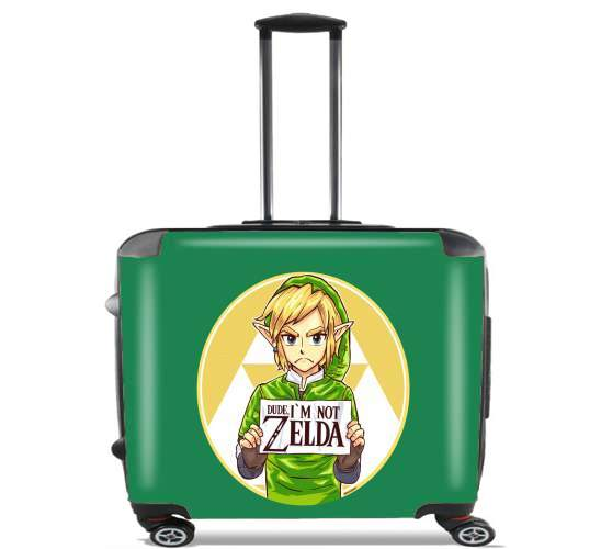 "Im not Zelda for Wheeled bag cabin luggage suitcase trolley 17"" laptop"
