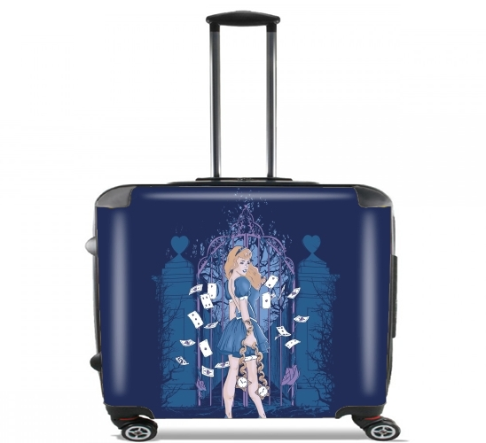 "In my wonderland for Wheeled bag cabin luggage suitcase trolley 17"" laptop"