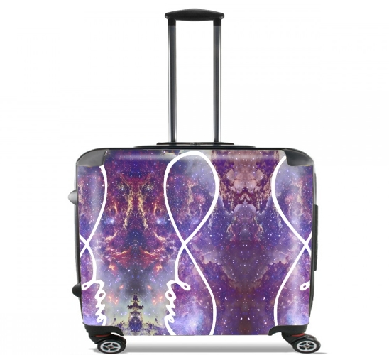 "Infinity Love Galaxy for Wheeled bag cabin luggage suitcase trolley 17"" laptop"