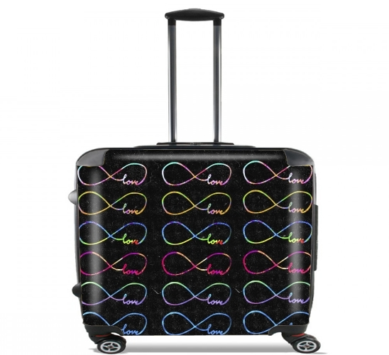 "Infinity x Infinity for Wheeled bag cabin luggage suitcase trolley 17"" laptop"