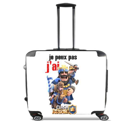 "Inspired By Clash Royale for Wheeled bag cabin luggage suitcase trolley 17"" laptop"