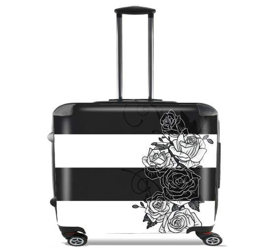 "Inverted Roses for Wheeled bag cabin luggage suitcase trolley 17"" laptop"