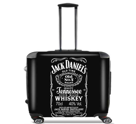 "Jack Daniels Fan Design for Wheeled bag cabin luggage suitcase trolley 17"" laptop"