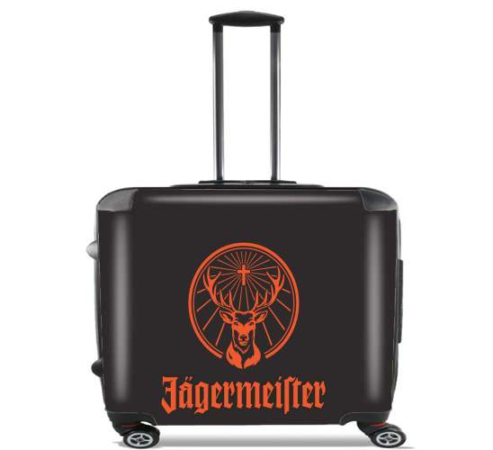 "Jagermeister for Wheeled bag cabin luggage suitcase trolley 17"" laptop"