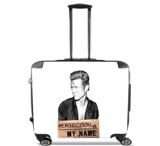 "James Dean Perfection is my name for Wheeled bag cabin luggage suitcase trolley 17"" laptop"