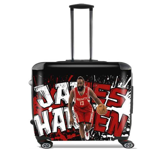 "James Harden Basketball Legend for Wheeled bag cabin luggage suitcase trolley 17"" laptop"