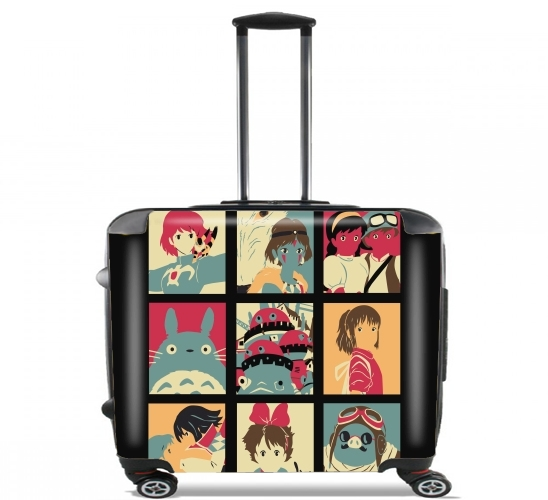 "Japan pop for Wheeled bag cabin luggage suitcase trolley 17"" laptop"