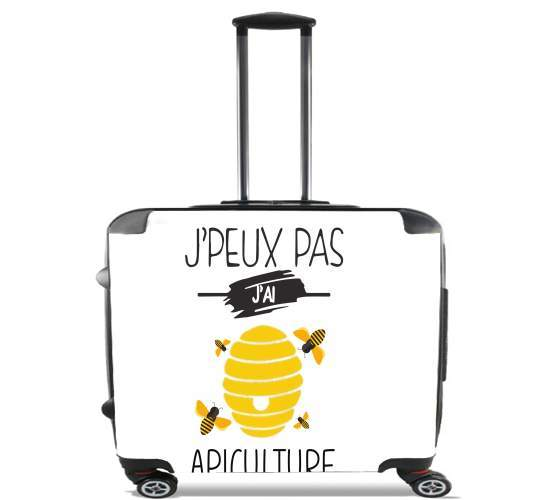 "Je peux pas j ai apiculture for Wheeled bag cabin luggage suitcase trolley 17"" laptop"