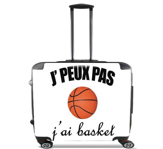 "Je peux pas j ai basket for Wheeled bag cabin luggage suitcase trolley 17"" laptop"