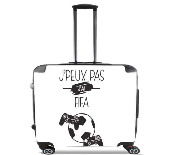 "Je peux pas j ai fifa for Wheeled bag cabin luggage suitcase trolley 17"" laptop"