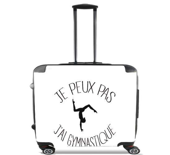 "Je peux pas j ai gymnastique for Wheeled bag cabin luggage suitcase trolley 17"" laptop"