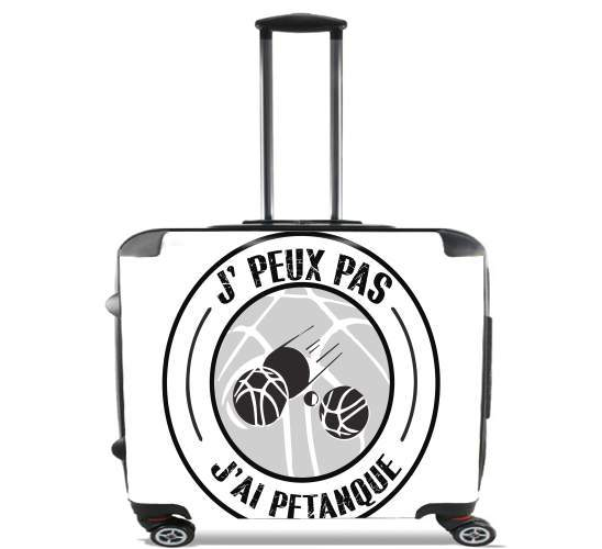 "I can not I petanque for Wheeled bag cabin luggage suitcase trolley 17"" laptop"