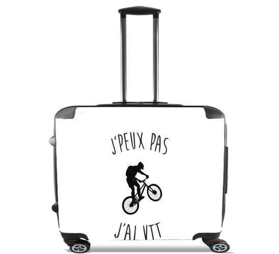 "Je peux pas j ai VTT BIKE Mountain for Wheeled bag cabin luggage suitcase trolley 17"" laptop"