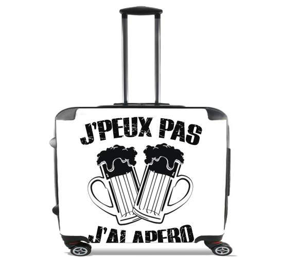 "Je peux pas jai apero for Wheeled bag cabin luggage suitcase trolley 17"" laptop"