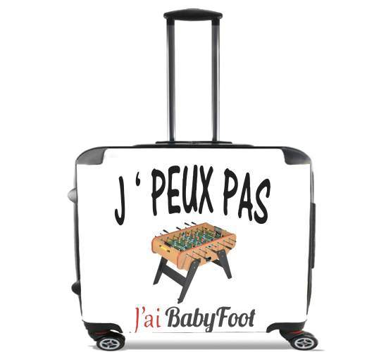 "Je peux pas jai babyfoot for Wheeled bag cabin luggage suitcase trolley 17"" laptop"