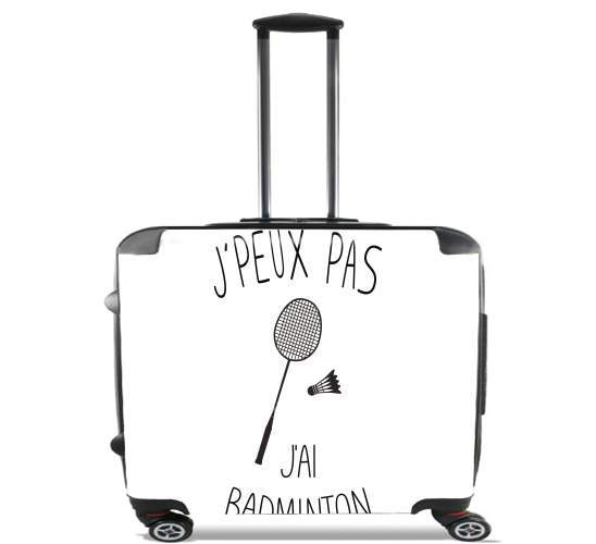 "Je peux pas jai badminton for Wheeled bag cabin luggage suitcase trolley 17"" laptop"
