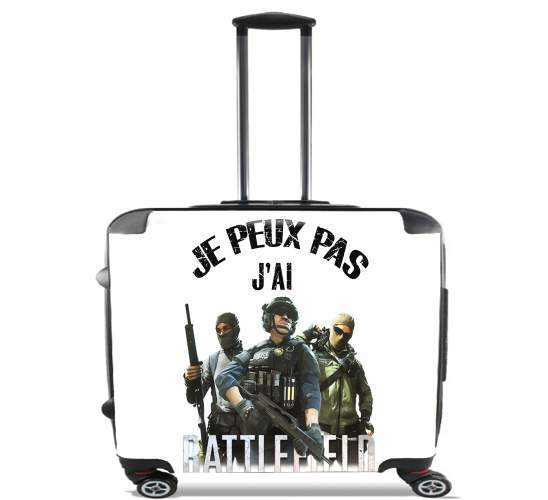 "Je peux pas jai battlefield for Wheeled bag cabin luggage suitcase trolley 17"" laptop"