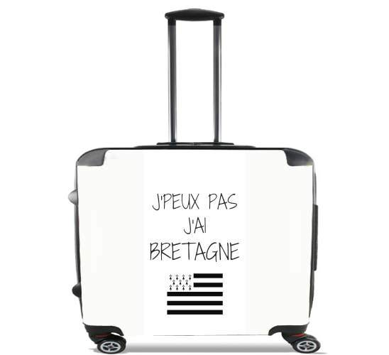 "Je peux pas jai bretagne for Wheeled bag cabin luggage suitcase trolley 17"" laptop"
