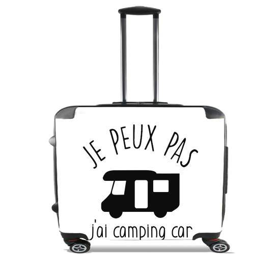 "Je peux pas jai camping car for Wheeled bag cabin luggage suitcase trolley 17"" laptop"