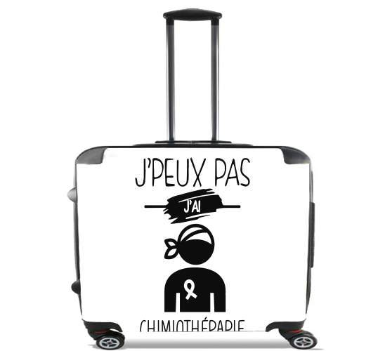 "Je peux pas jai chimiotherapie for Wheeled bag cabin luggage suitcase trolley 17"" laptop"