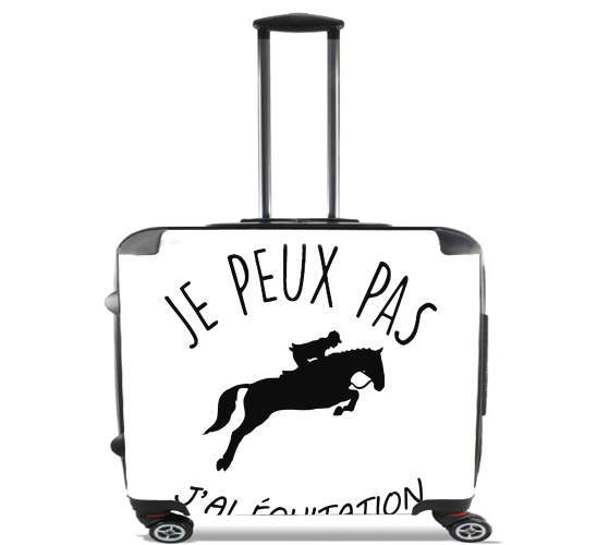 "Je peux pas jai equitation for Wheeled bag cabin luggage suitcase trolley 17"" laptop"