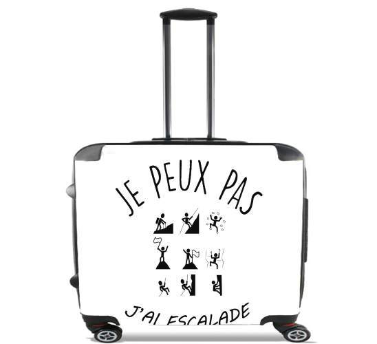 "Je peux pas jai escalade for Wheeled bag cabin luggage suitcase trolley 17"" laptop"