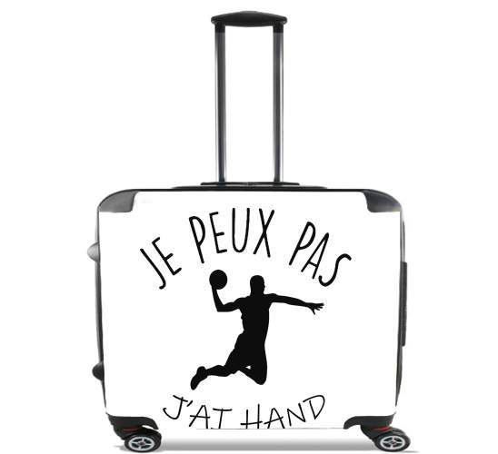 "Je peux pas jai handball for Wheeled bag cabin luggage suitcase trolley 17"" laptop"