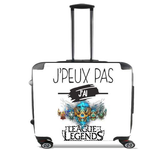 "Je peux pas jai league of legends for Wheeled bag cabin luggage suitcase trolley 17"" laptop"