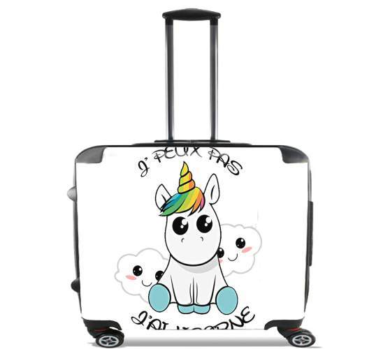 "Je peux pas j'ai licorne for Wheeled bag cabin luggage suitcase trolley 17"" laptop"
