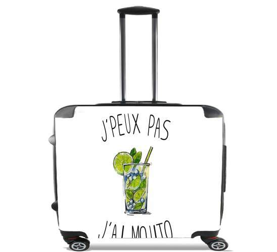 "Je peux pas jai mojito for Wheeled bag cabin luggage suitcase trolley 17"" laptop"