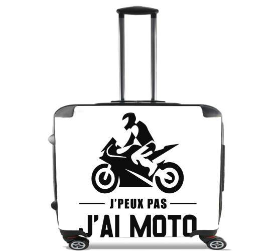"Je peux pas jai moto for Wheeled bag cabin luggage suitcase trolley 17"" laptop"