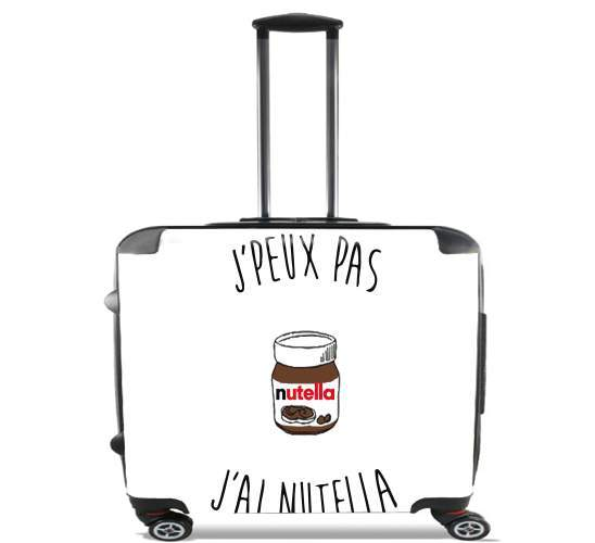 "Je peux pas jai nutella for Wheeled bag cabin luggage suitcase trolley 17"" laptop"