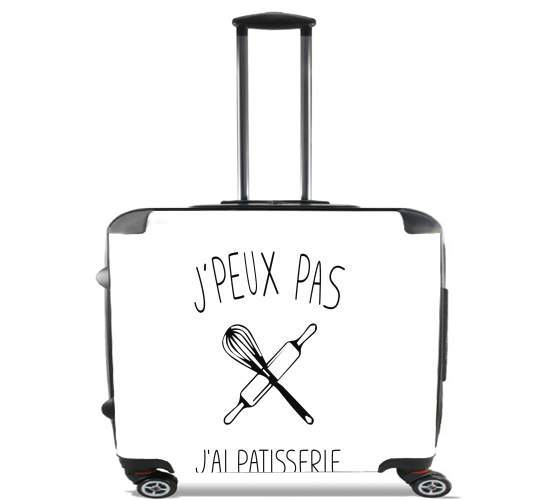 "Je peux pas jai patisserie for Wheeled bag cabin luggage suitcase trolley 17"" laptop"