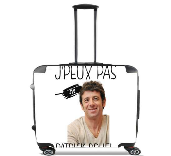 "Je peux pas jai Patrick Bruel for Wheeled bag cabin luggage suitcase trolley 17"" laptop"