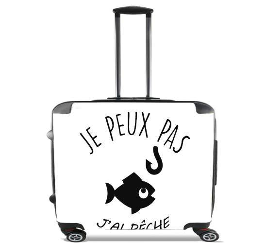 "Je peux pas jai peche for Wheeled bag cabin luggage suitcase trolley 17"" laptop"