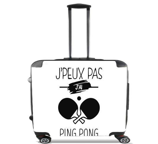 "Je peux pas jai ping pong for Wheeled bag cabin luggage suitcase trolley 17"" laptop"